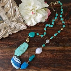 🍃🌸New: Stunning Turquoise Long Necklac🌸🍃